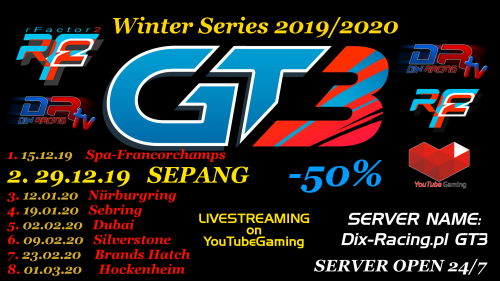 GT3 Challengers Winter 2019/20 - Malaysia